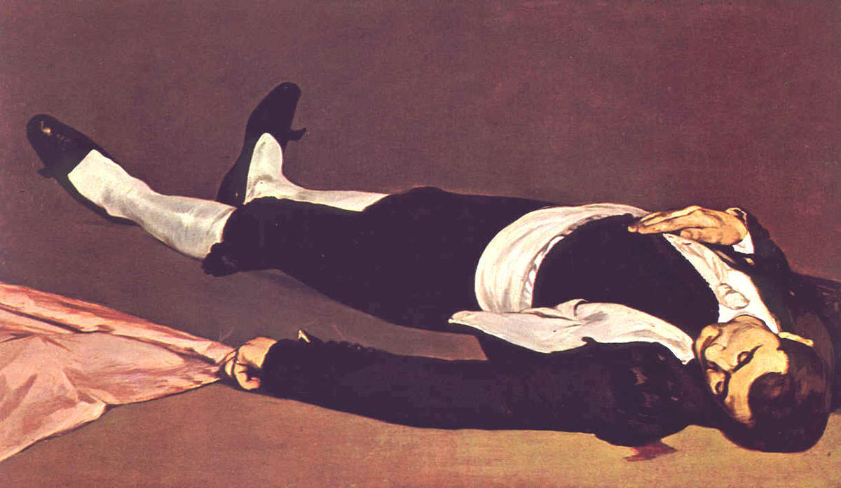 famous painting The dead toreador of Edouard Manet