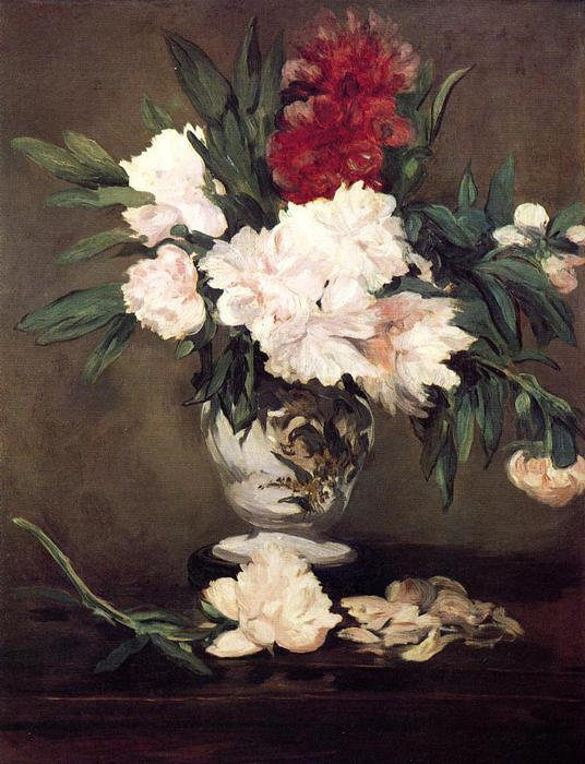 famous painting Vase of Peonies on a Small Pedestal of Edouard Manet