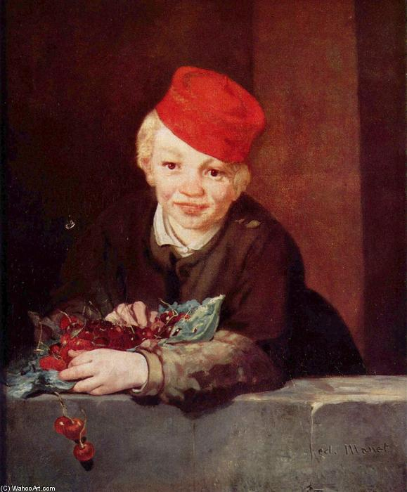 famous painting The Boy with Cherries of Edouard Manet