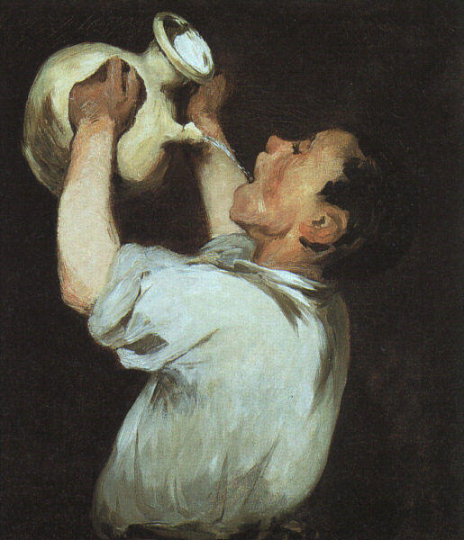 famous painting A boy with a pitcher of Edouard Manet