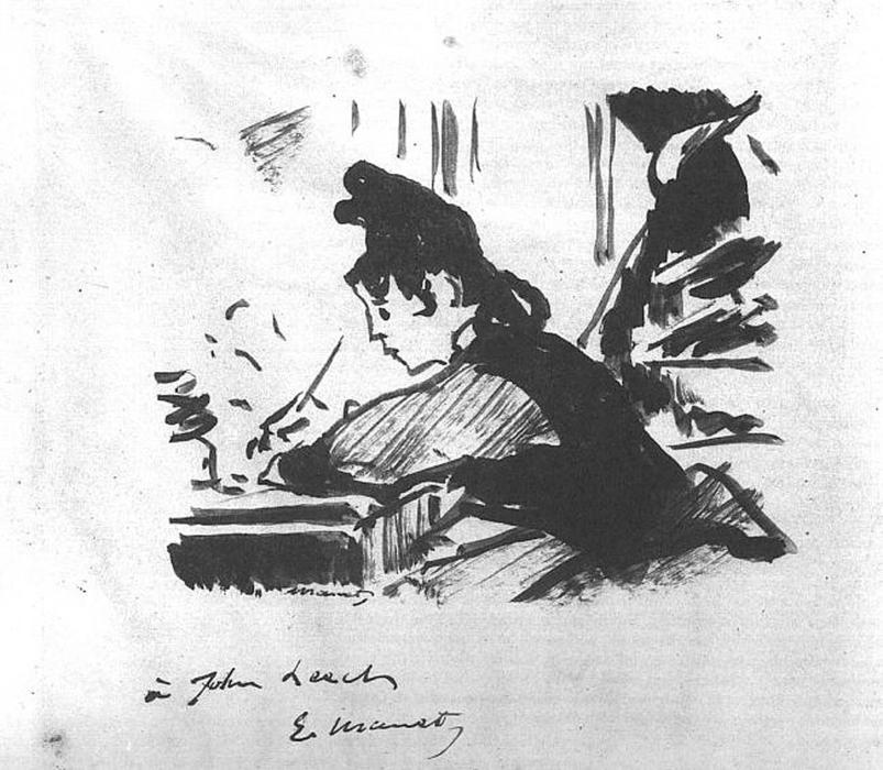 famous painting Woman writing of Edouard Manet