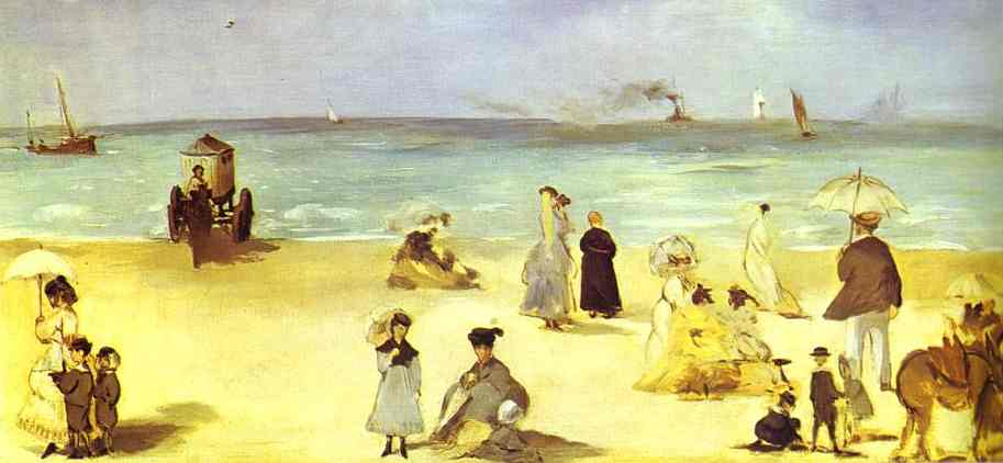 famous painting Beach at Boulogne of Edouard Manet