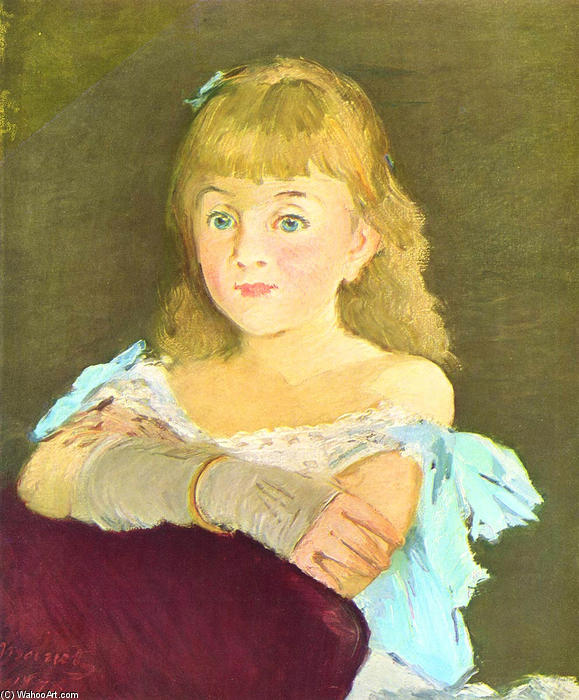 famous painting Portrait of Lina Campineanu of Edouard Manet
