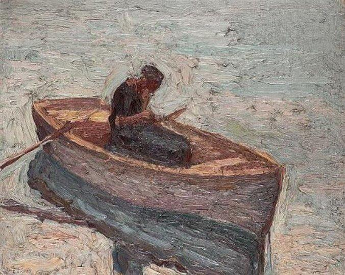 famous painting Figure in a rowing boat of Emmanuel Zairis