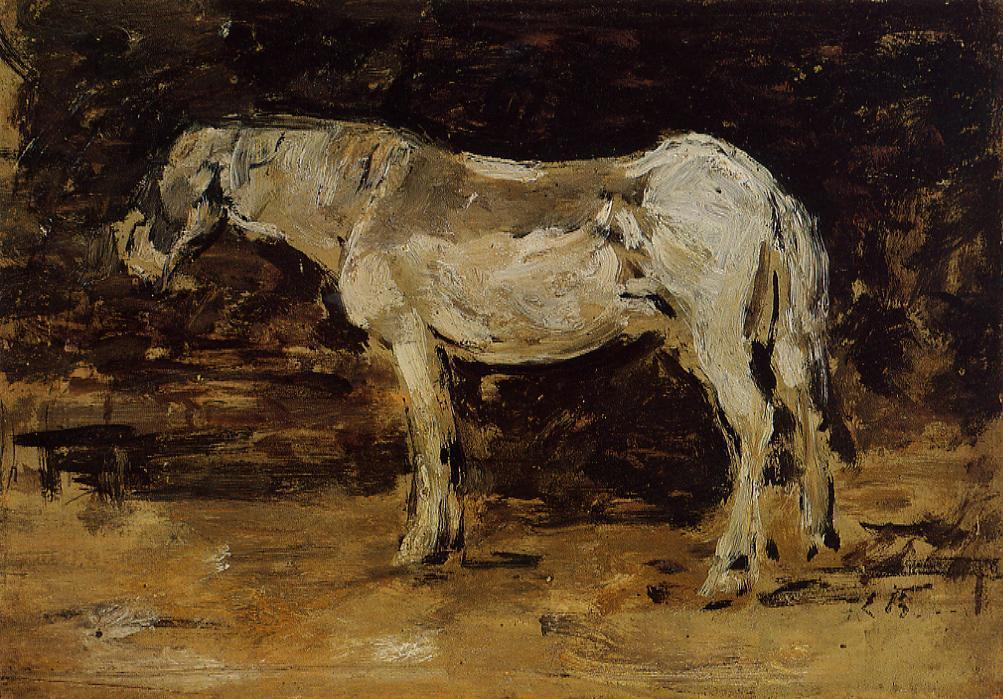famous painting The White Horse of Eugène Louis Boudin