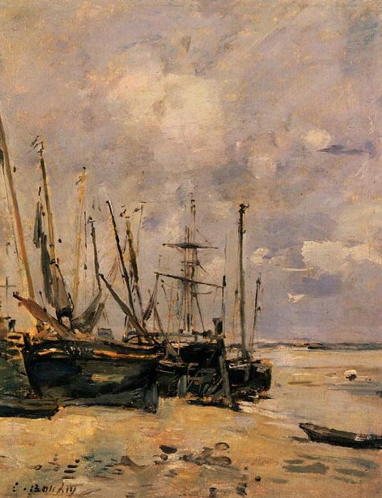 famous painting Boats of Eugène Louis Boudin