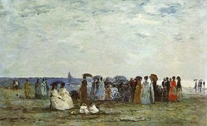 Eugène Louis Boudin - Bathers on the Beach at Trouville