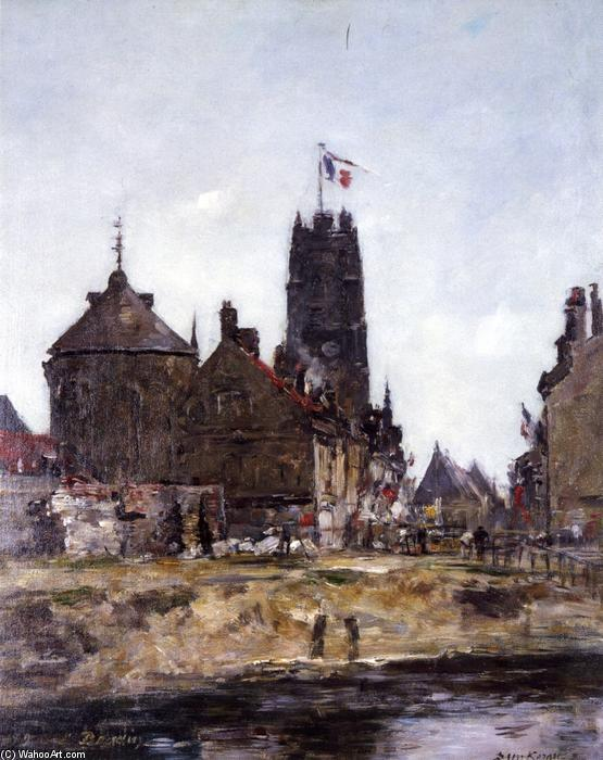 famous painting Dunkirk, Festival Day of Eugène Louis Boudin