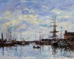 Eugène Louis Boudin - Deauville, the Dock