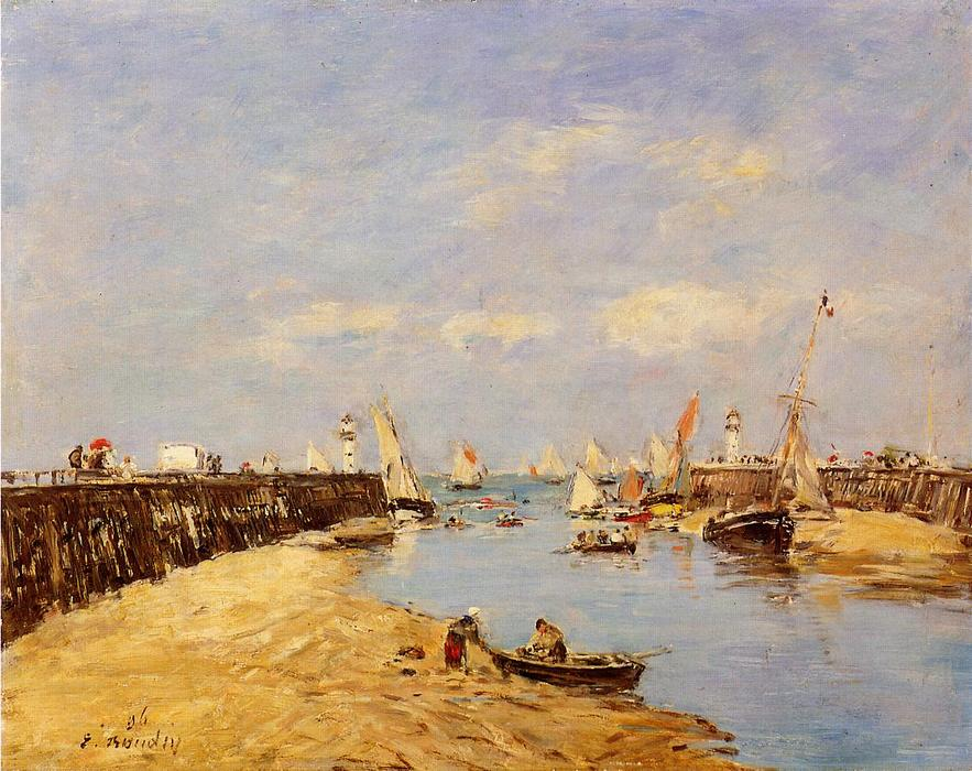 famous painting Trouville, the Jetty and the Basin of Eugène Louis Boudin