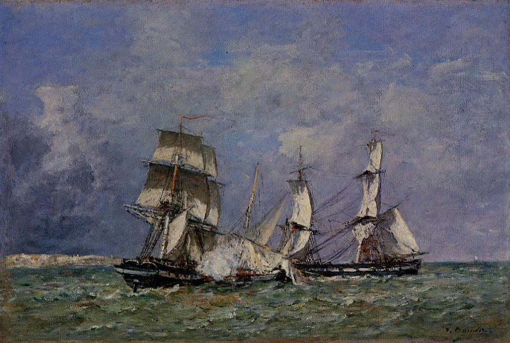 famous painting The Capture of the 'Petit Rodeur' of Eugène Louis Boudin