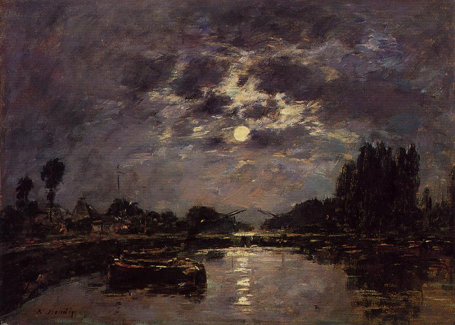 famous painting The Effect of the Moon of Eugène Louis Boudin