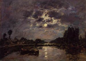 Eugène Louis Boudin - The Effect of the Moon