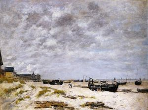 Eugène Louis Boudin - The Beach, Berck