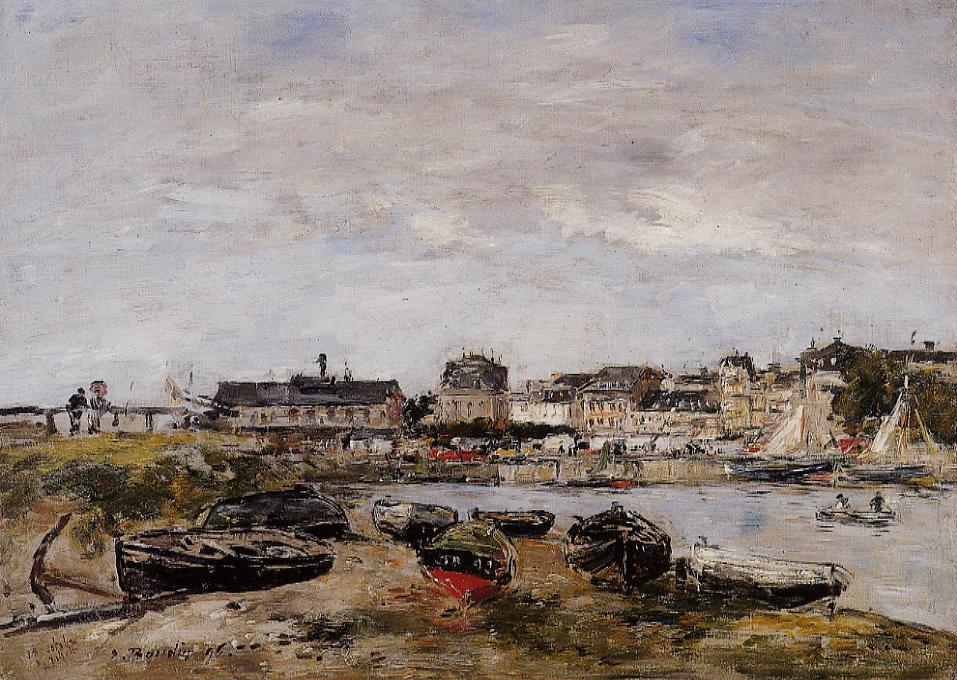 famous painting View of the Port, Trouville of Eugène Louis Boudin