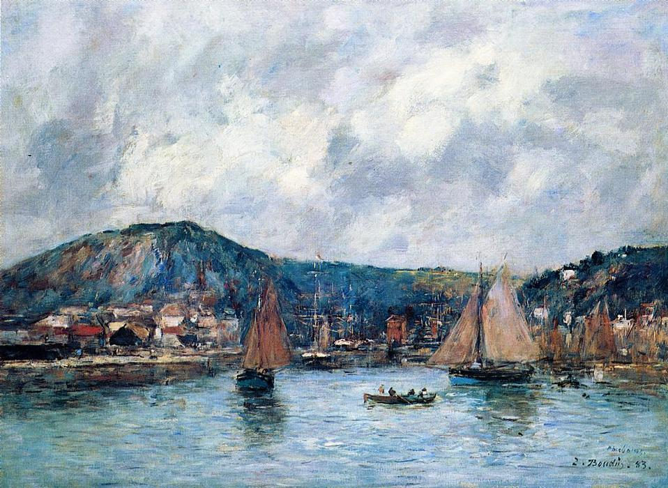 famous painting Cherbourg of Eugène Louis Boudin