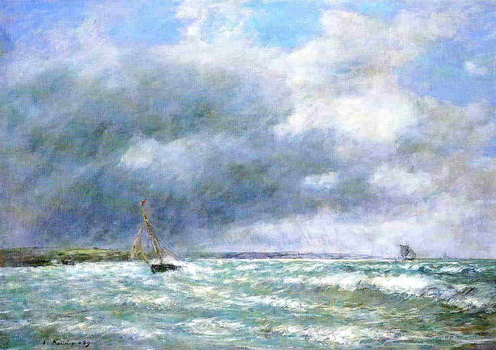 famous painting The Stranded Boat of Eugène Louis Boudin