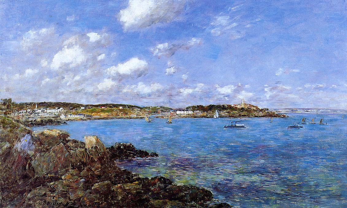 famous painting The Bay of Douarnenez of Eugène Louis Boudin