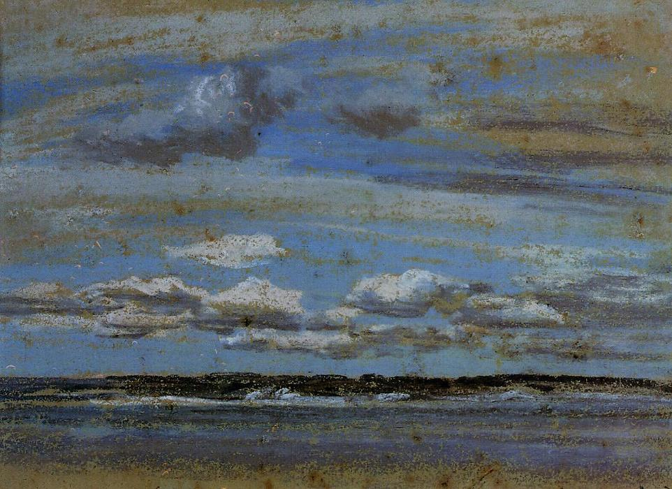 famous painting White Clouds over the Estuary of Eugène Louis Boudin
