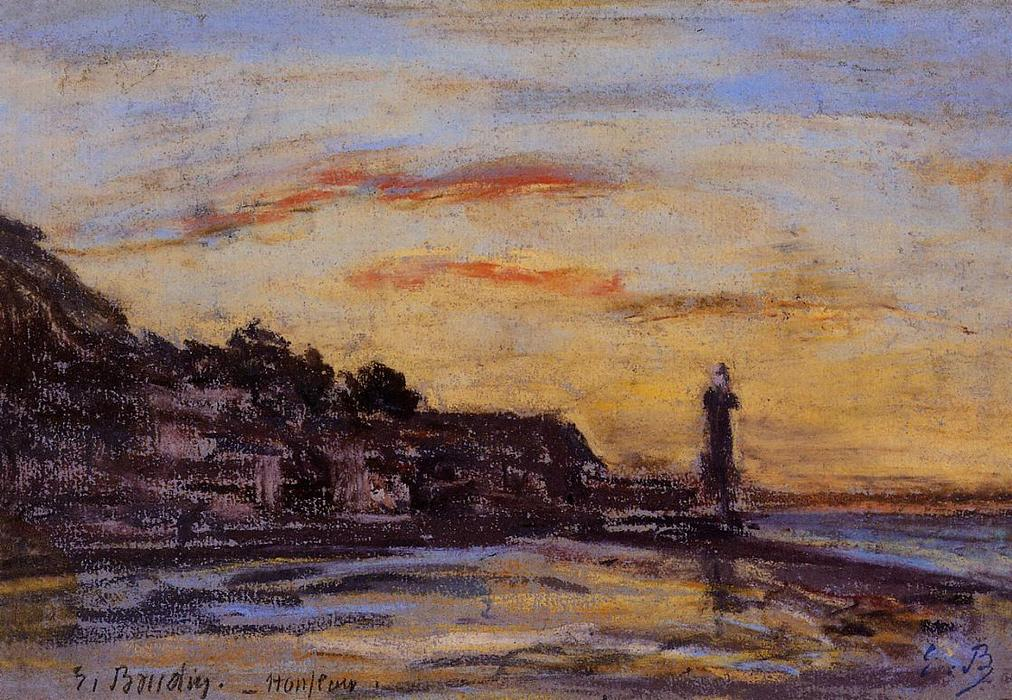 famous painting The Honfleur Lighthouse of Eugène Louis Boudin