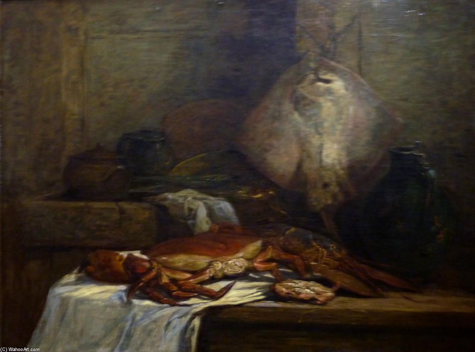famous painting Still Life with Skate of Eugène Louis Boudin