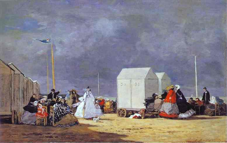 famous painting Approaching Storm of Eugène Louis Boudin