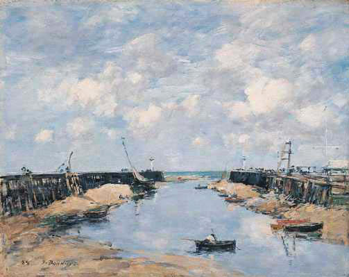 famous painting The Entrance of Eugène Louis Boudin