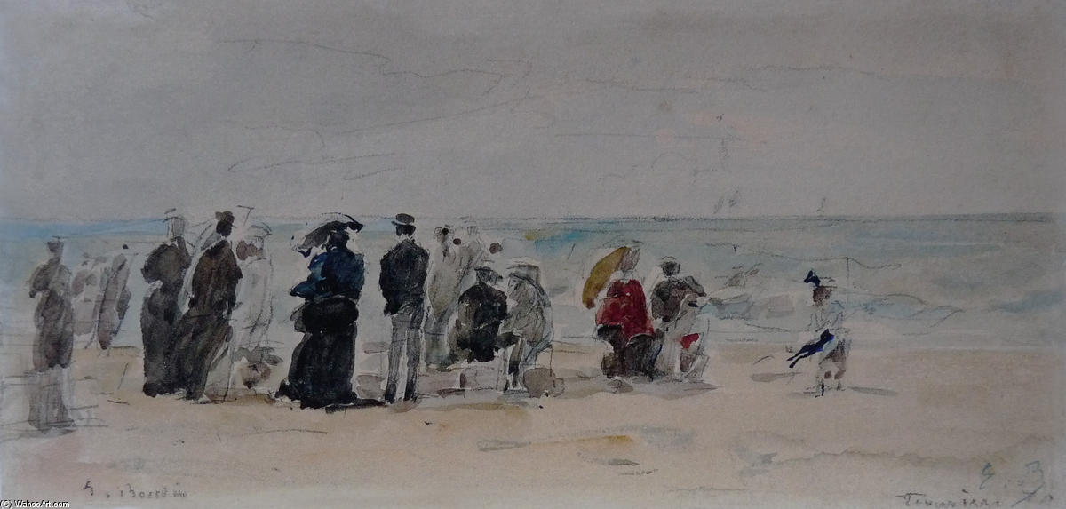 famous painting Trouville of Eugène Louis Boudin