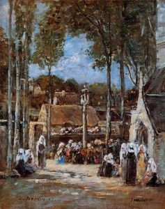 Eugène Louis Boudin - Local Pilgrimmage at Landerneau