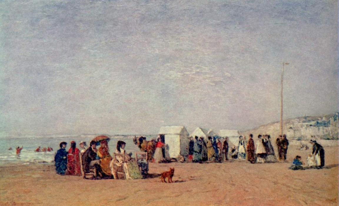 famous painting Strand in Trouville of Eugène Louis Boudin