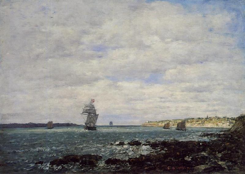 famous painting Coast of Brittany of Eugène Louis Boudin