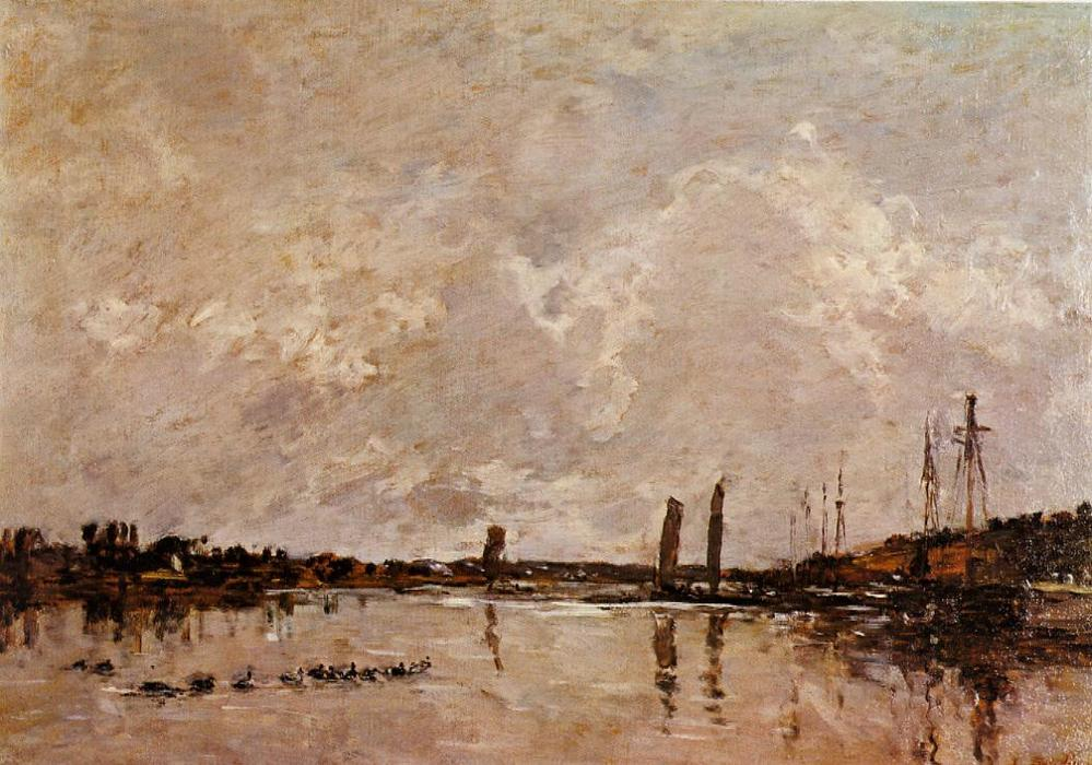 famous painting Near Faou of Eugène Louis Boudin