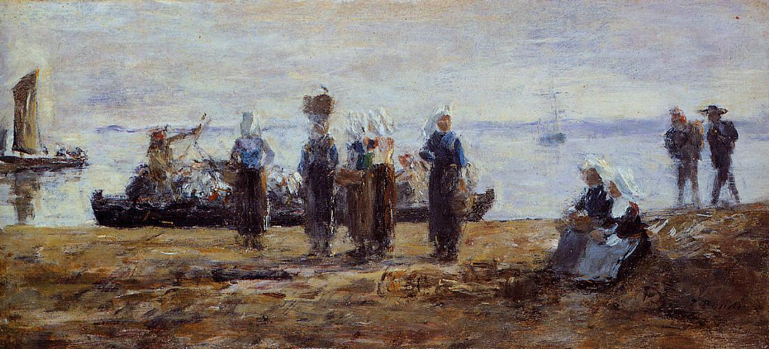 famous painting The Ferry at Plougastel of Eugène Louis Boudin