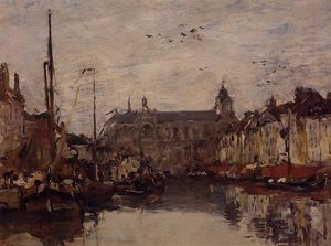 Eugène Louis Boudin - The Merchant Dock
