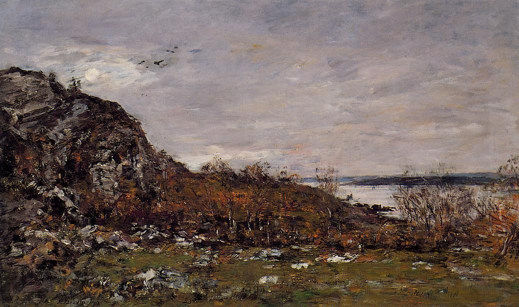 famous painting The Mouth of the Elorn in the Area of Brest of Eugène Louis Boudin