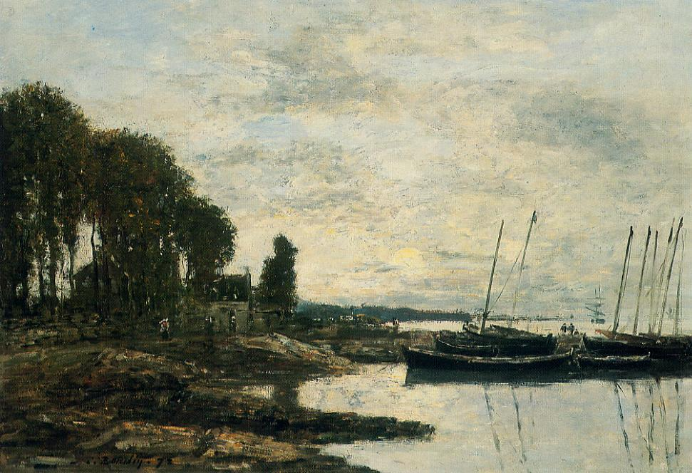 famous painting The Shore at Plougastel of Eugène Louis Boudin