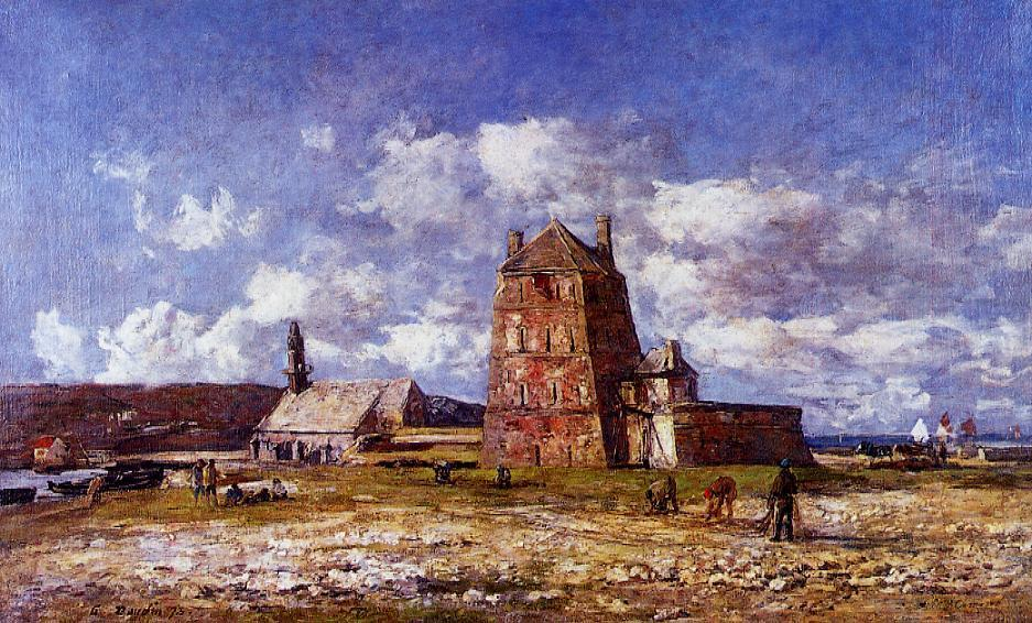 famous painting Camaret, the Jetty of Eugène Louis Boudin