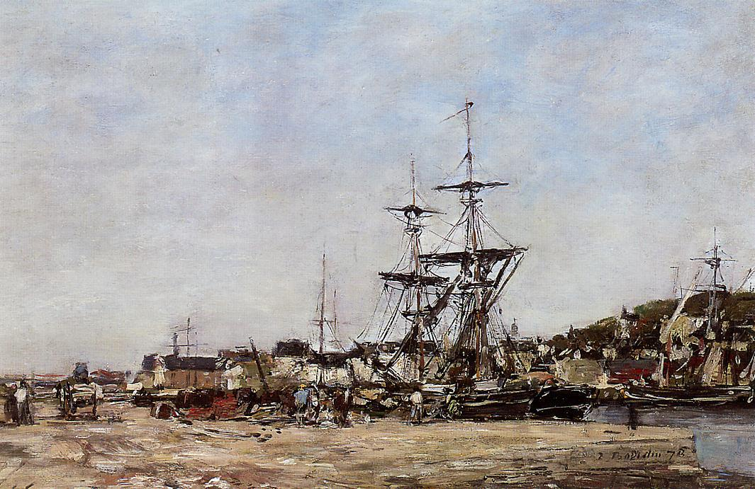 famous painting Deauville, the Docks of Eugène Louis Boudin