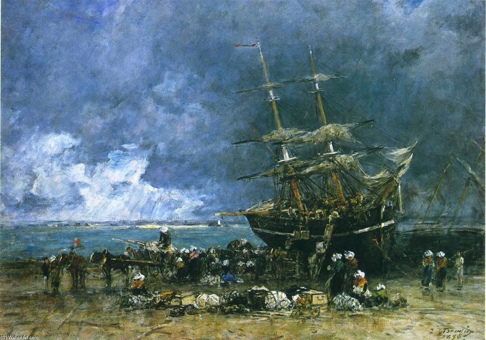 famous painting Return of the Terre Neuvier of Eugène Louis Boudin