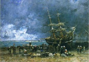 Eugène Louis Boudin - Return of the Terre Neuvier