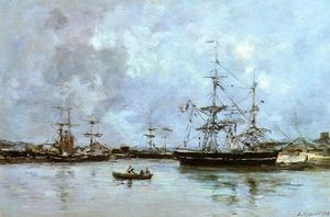 Eugène Louis Boudin - The Port of Deauville