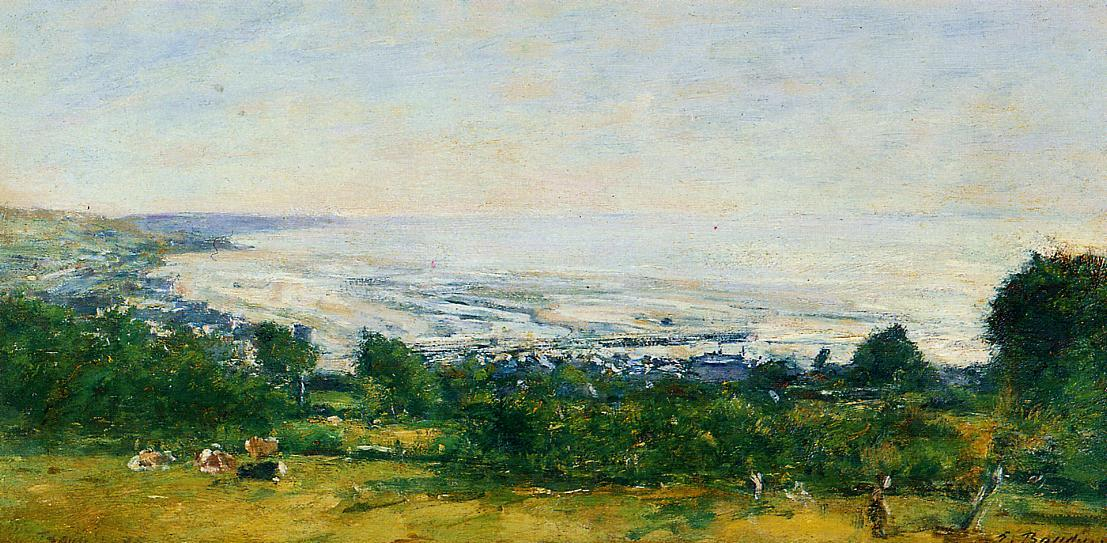 famous painting The Trouville Heights of Eugène Louis Boudin