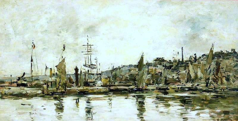 famous painting The port of Bordeaux of Eugène Louis Boudin