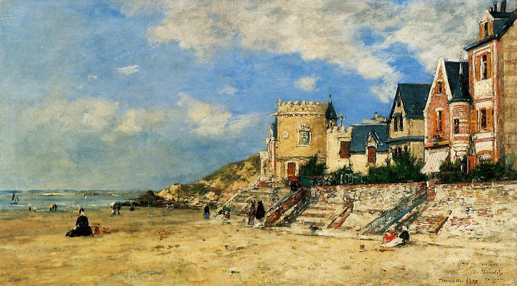 famous painting The Tour Malakoff and the Trouville Shore of Eugène Louis Boudin