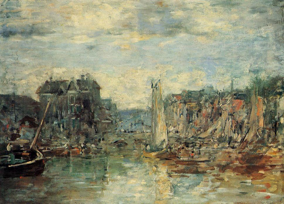 famous painting Rotterdam, the Commodities Exchange Port of Eugène Louis Boudin
