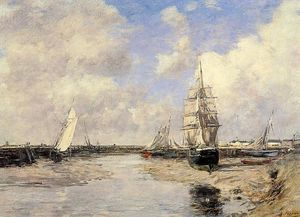 Eugène Louis Boudin - Estuary at Trouville