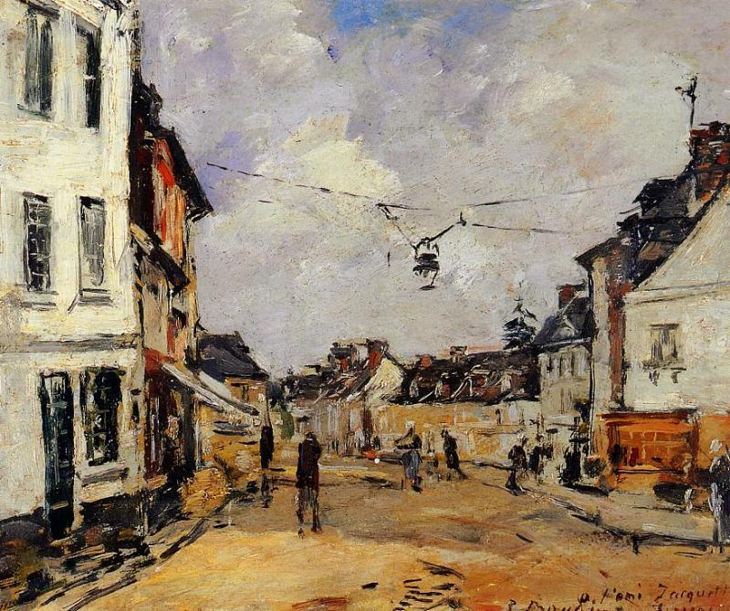 famous painting Fervaques, the Main Street of Eugène Louis Boudin