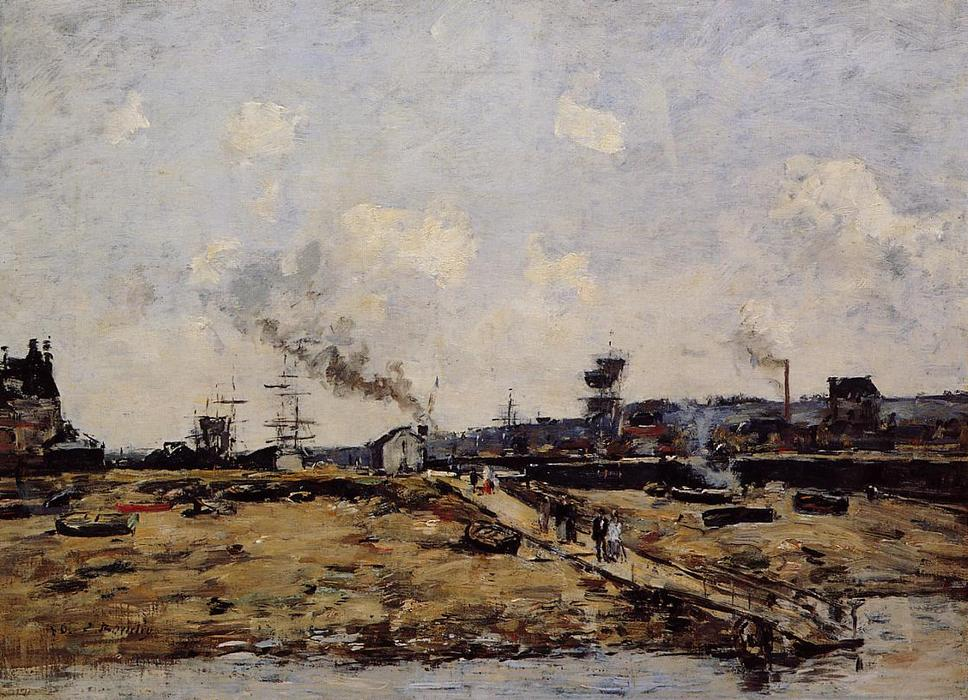 famous painting Trouville, the Ferry to Deauville of Eugène Louis Boudin
