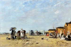 Eugène Louis Boudin - Berck, the Beach