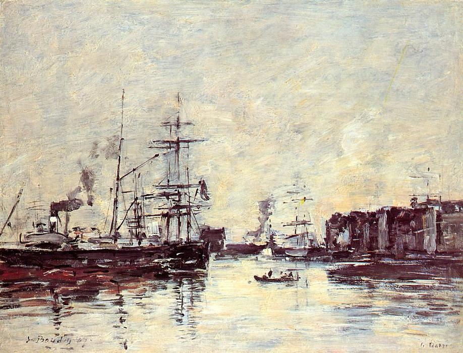 famous painting Sailing Boats of Eugène Louis Boudin